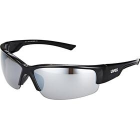 UVEX Sportstyle 215 Sportsbriller, black/silver